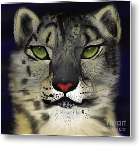 Snow Leopard - The Eyes Have It Metal Print