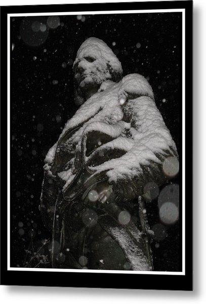 Snow Mask By Darryl Kravitz Metal Print by Darryl  Kravitz