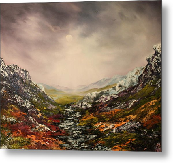 Snow On The Cairngorms Metal Print