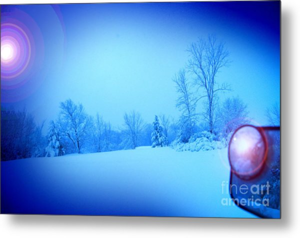 Snow Plow At Thirty Two Below Metal Print by The Stone Age