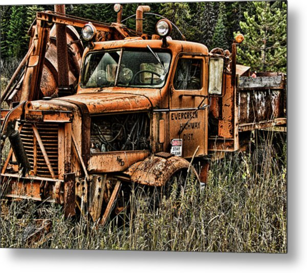 Snow Plow Metal Print