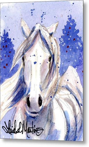 Snow Pony 2 Metal Print