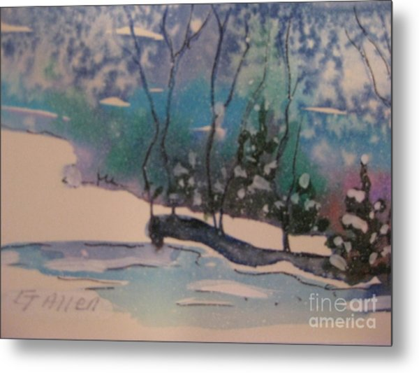 Snow Reflections Metal Print