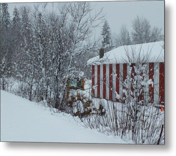 Snow Storm 2 Metal Print by Gene Cyr
