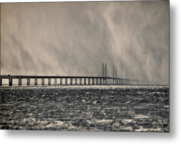 Snow Storm Out At Sea Metal Print
