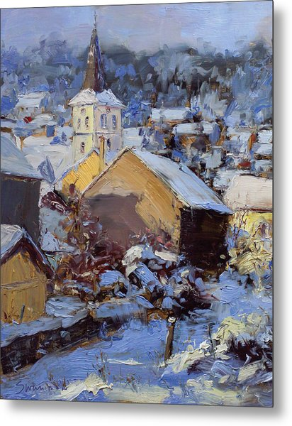 Snow Village Metal Print by James Swanson