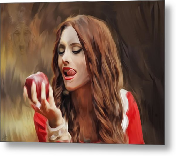Snow White Metal Print by Hazel Billingsley