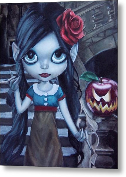 Snow White Metal Print by Lori Keilwitz