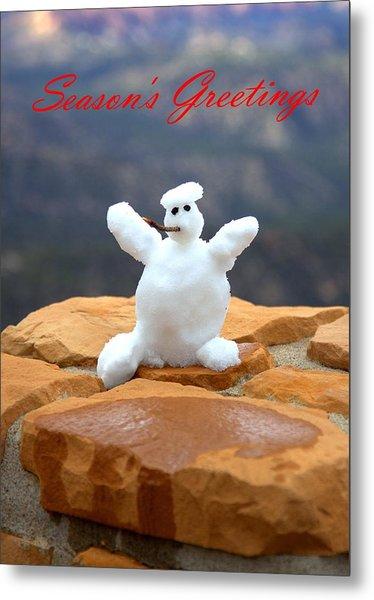 Snowball Snowman Metal Print