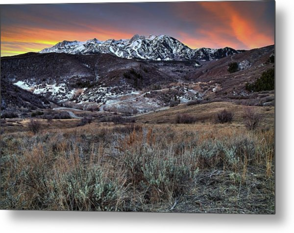 Snowbasin Fire And Ice Metal Print