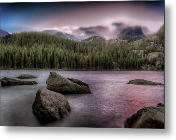 Snowblown Sunset  Metal Print
