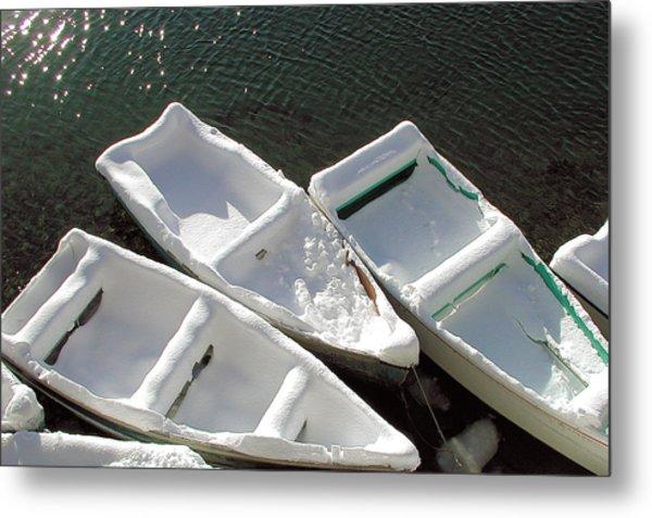 Snowboats Metal Print