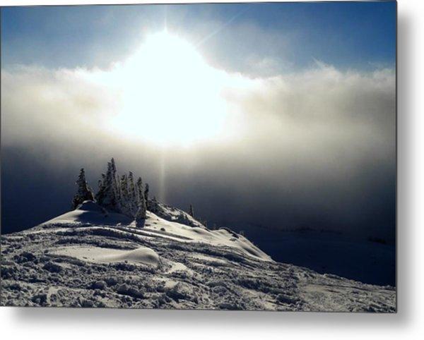 Snowcloud Sunburst Metal Print