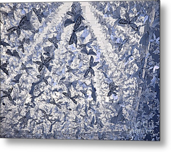 Snowing Butterflies Metal Print