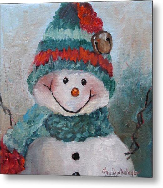 Snowman IIi - Christmas Series Metal Print