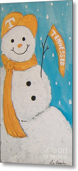 Snowman University Of Tennessee Metal Print