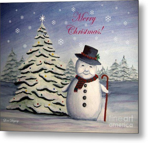 Snowman's Christmas Metal Print