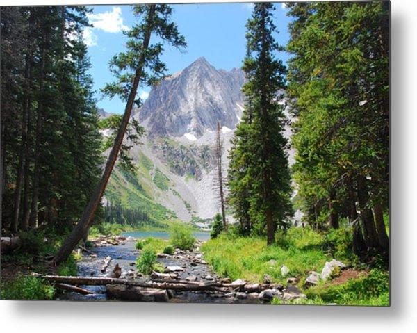 Snowmass Peak Landscape Metal Print