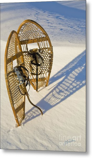 Snowshoes II Metal Print