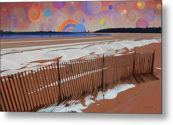 Snowy Beach Metal Print