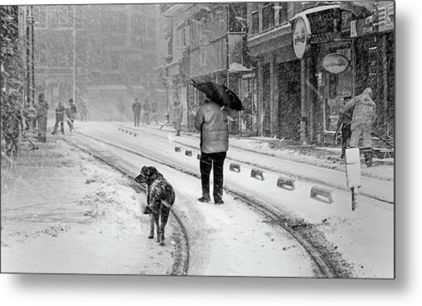 Snowy Day A?n A?stanbul Metal Print by Devrim ?nl?