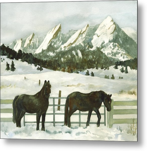 Snowy Day Metal Print