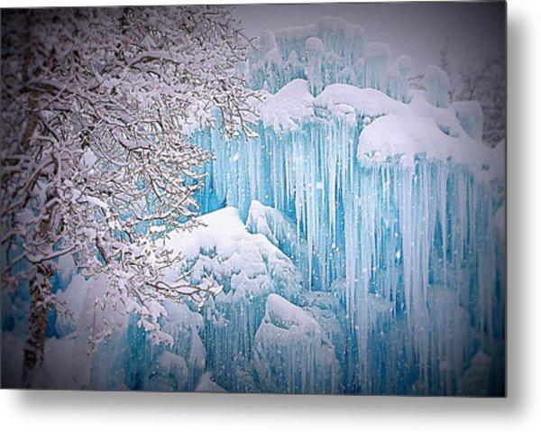 Snowy Ice Castle Metal Print