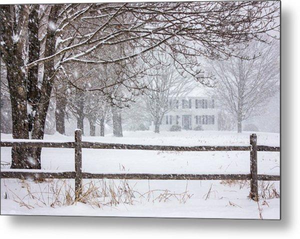 Snowy New England Metal Print