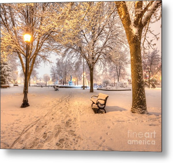Metal Print featuring the photograph Snowy Path To Wenonah by Kari Yearous