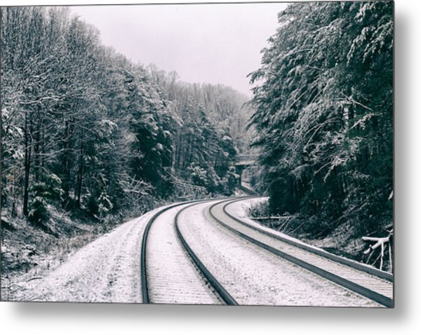 Snowy Travel Metal Print