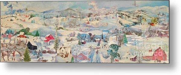 Snowy Village - Sold Metal Print