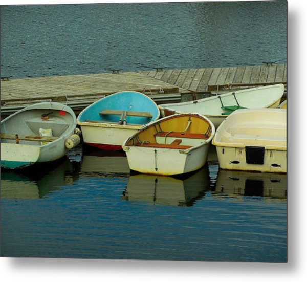 Snuggle Boats Metal Print