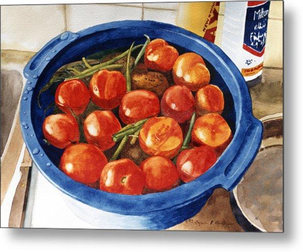 Soaking Tomatoes Metal Print