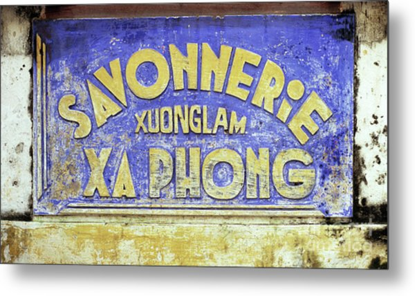 Soap Factory Sign Metal Print