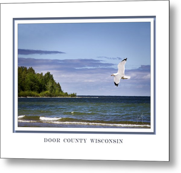 Soaring Over Door County Metal Print