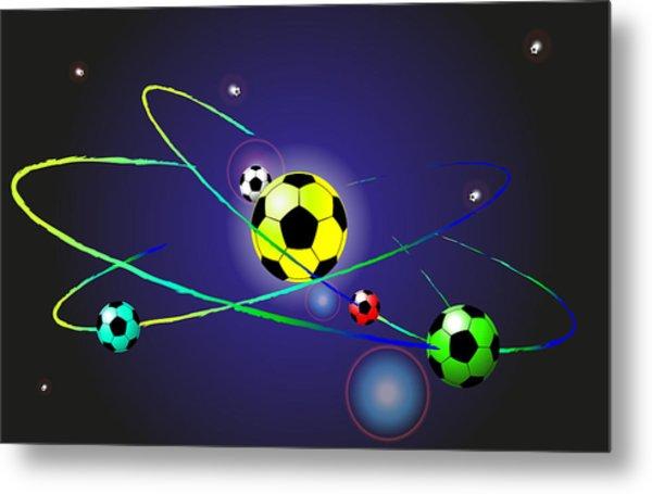 Soccer Ball Metal Print by Volodymyr Horbovyy