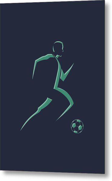Soccer Player1 Metal Print