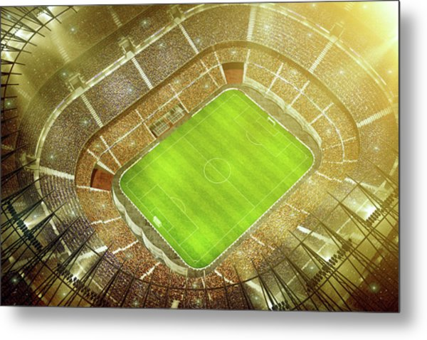Soccer Stadium Bird Eye View Metal Print by Dmytro Aksonov