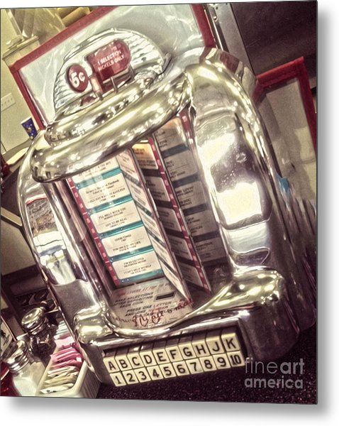 Soda Fountain Juke Box Metal Print