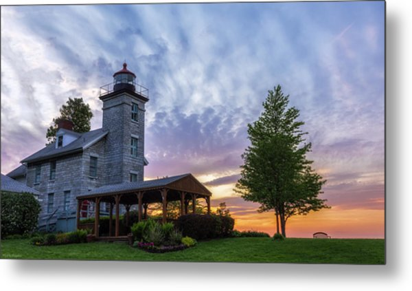 Sodus Bay Lighthouse Metal Print