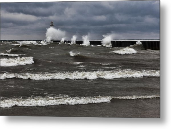 Sodus Waves Metal Print