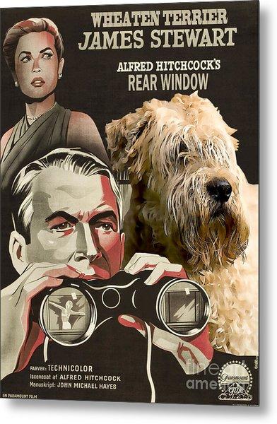 Soft-coated Wheaten Terrier  - Wheaten Terrier Art Canvas Print - Rear Window Movie Poster Metal Print