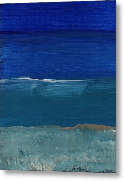 Soft Crashing Waves- Abstract Landscape Metal Print