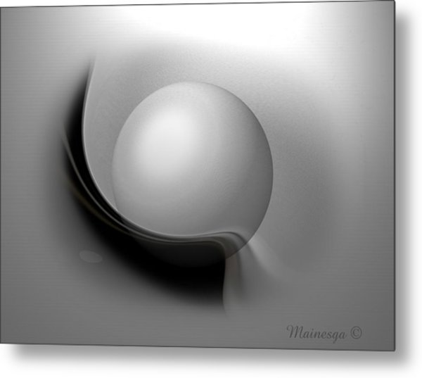 Soft Moon Metal Print