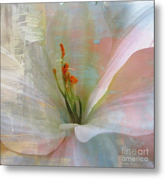 Soft Painted Lily Metal Print