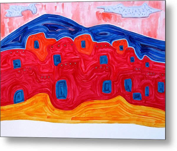 Soft Pueblo Original Painting Metal Print