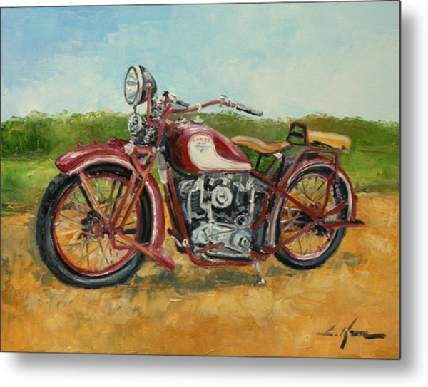Sokol 1000 - Polish Motorcycle Metal Print