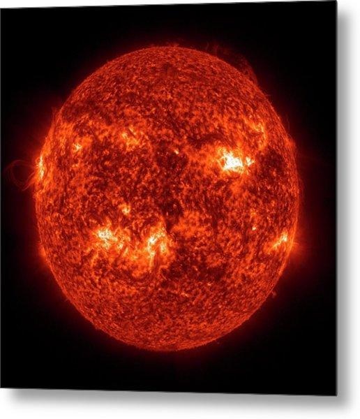 Solar Activity Metal Print by Nasa/gsfc-svs/sdo Science Team/virtual Solar Observatory