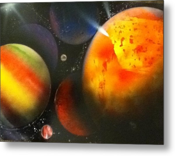 Solar Metal Print by Angel Griffin