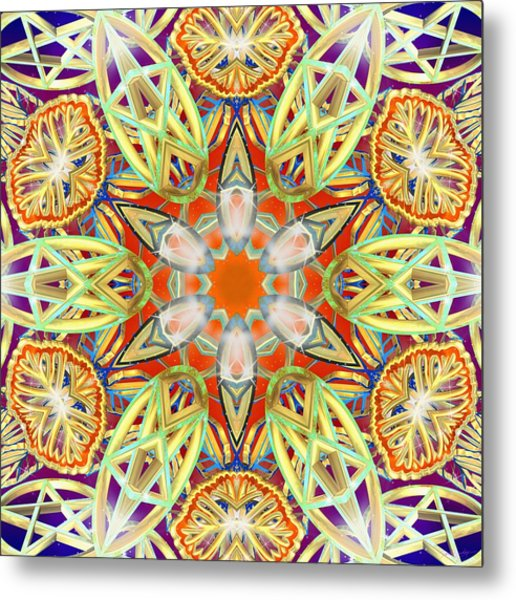 Solar Lattice Metal Print